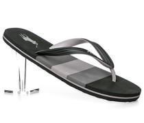 Schuhe Zehensandalen, PVC, schwarz- gestreift