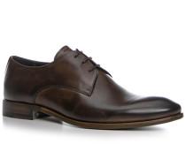 Schuhe Derby, Kalbleder glatt, testa di moro