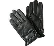 Herren POLO RALPH LAUREN Handschuhe Leder schwarz