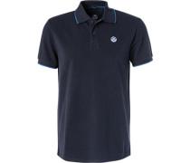 Polo-Shirt, Regular Fit, Baumwoll-Piqué, navy