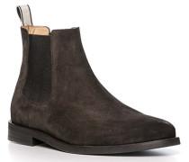 Schuhe Chelsea Boots, Veloursleder, schoko