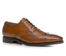 Schuhe Oxford, Kalbleder, cognac
