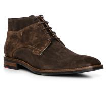 Schuhe Stiefelette Stanley, Kalbleder, kaffee