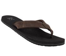 Schuhe Zehensandalen, Veloursleder, dunkel