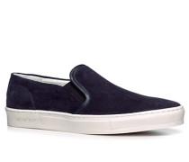 Schuhe Slip Ons, Veloursleder, nacht