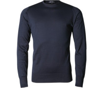 Pullover, Easy Fit, Sea Island Cotton, navy
