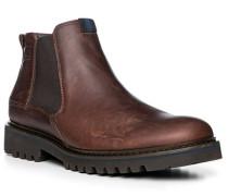 Schuhe Stiefeletten, Leder, kastanien