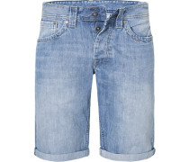 Jeansshorts Cash, Regular Fit, Baumwolle, hell