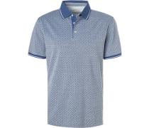 Polo-Shirt, Baumwoll-Piqué, mittel gemustert
