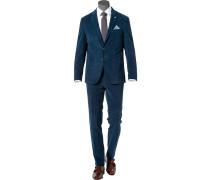 Anzug Modern Fit Cord dunkelblau