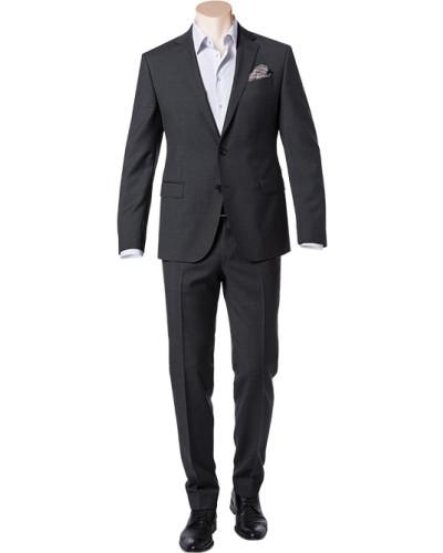 Anzug, Slim Fit, Schurwolle, anthrazit meliert