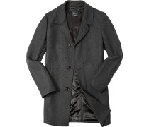 Mantel, Wolle, -grau gemustert