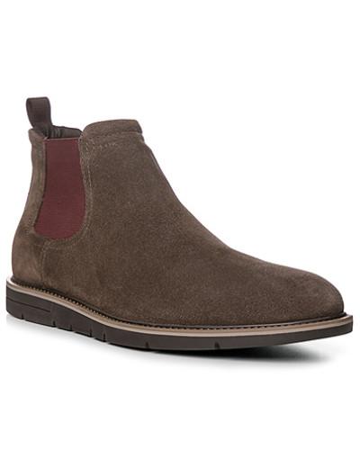 Geox Herren Schuhe Chelsea Boots, Veloursleder, greige