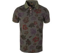 Polo-Shirt, Baumwoll-Pique, dunkel gemustert