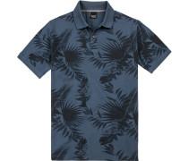 Polo-Shirt, Baumwoll-Piqué,  gemustert