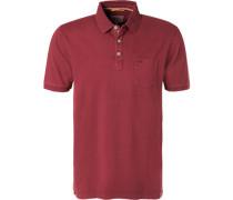 Polo-Shirt, Baumwoll-Jersey, bordeaux