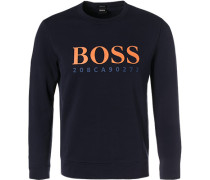 Sweatshirt, Regular Fit, Baumwolle, navy