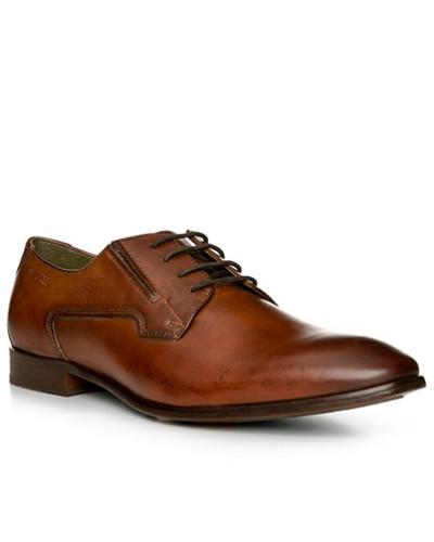 Bugatti Herren Schuhe Derby, Leder, cognac