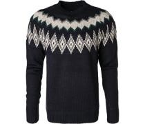 Pullover, Mikrofaser-Wolle, marine