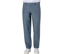 Hose Pilo, Regular Fit, Leinen, jeans meliert