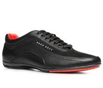 Schuhe Sneaker, Leder, schwarz