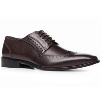 Schuhe Brogue, Leder, testa di moro