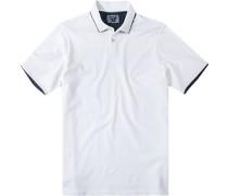 Polo-Shirt, Baumwolle, weiß