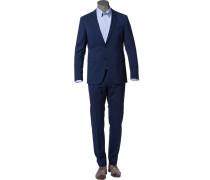 Anzug, Slim Fit, Schurwolle, dunkel meliert