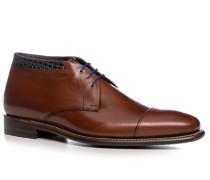 Schuhe Dessert Boots, Kalbleder, cognac