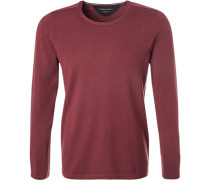Pullover, Shaped Fit, Schurwolle, aubergine