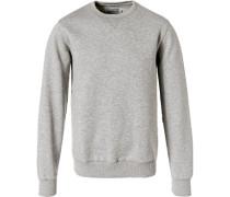 Sweatshirt, Regular Fit, Baumwolle, hell meliert