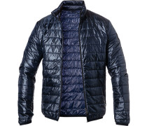 Steppjacke, Slim Fit, Mikrofaser, navy