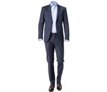 Anzug Herby-Blayr, Slim Fit, Wolle, dunkel meliert