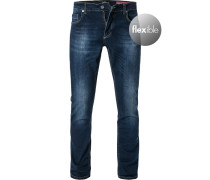 Jeans, Shape Fit, Baumwoll-Stretch, dunkel