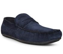 Schuhe Mokassins, Veloursleder, dunkel