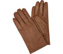 Handschuhe, Geschenkbox, Schafleder, cognac