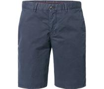 Hose Bermudashorts, Slim Fit, Baumwolle, navy