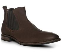 Schuhe Chelsea-Boots, Leder, dunkel