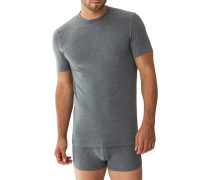 T-Shirt, Modal-Stretch, anthrazit meliert