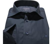 Hemd, Modern Fit, Popeline, navy