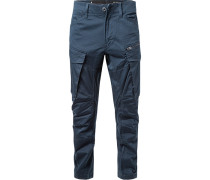 Cargohose, Tapered Fit, Baumwolle, navy