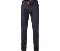 Jeans, Skinny Fit, Baumwoll-Stretch, marine