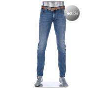Jeans, Slim Fit, Baumwoll-Stretch T400 12oz, denim