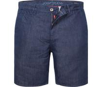 Jeansshorts, Modern Fit, Baumwolle-Leinen, dunkel