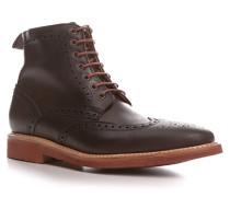 Schuhe Schnürstiefeletten, Leder, dunkel