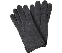 Handschuhe, Wollwalk, anthrazit meliert