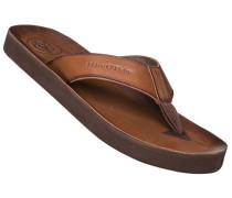 Schuhe Zehensandale, Rindleder, cognac