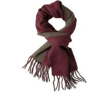Schal, Wolle, bordeaux-braun