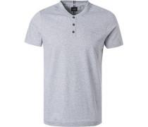 T-Shirt, Baumwolle, hell meliert
