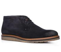 Schuhe Stiefeletten, Veloursleder, navy
